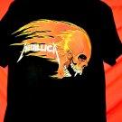 METALLICA T-Shirt Flaming Skull PUSHEAD Size XL