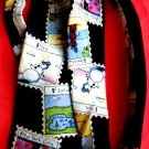 John Ashford Silk Neck Tie Snowman around the world London New York City Cairo