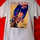 Vintage 1996 ATLANTA Olympics Men's Cycling T-Shirt Size Large