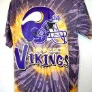 Tie Dye Minnesota Vikings T-Shirt Size XL Helmet