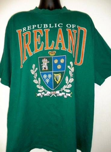 Republic of Ireland T-Shirt Size XXL Irish Crest