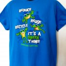 Reduce  Reuse Recycle It's A Green Thing T-Shirt Size Large Earth Day