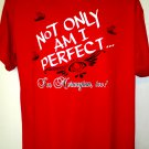 Not Only Am I Perfect, But I'm Norwegian Too! T-Shirt Size XL