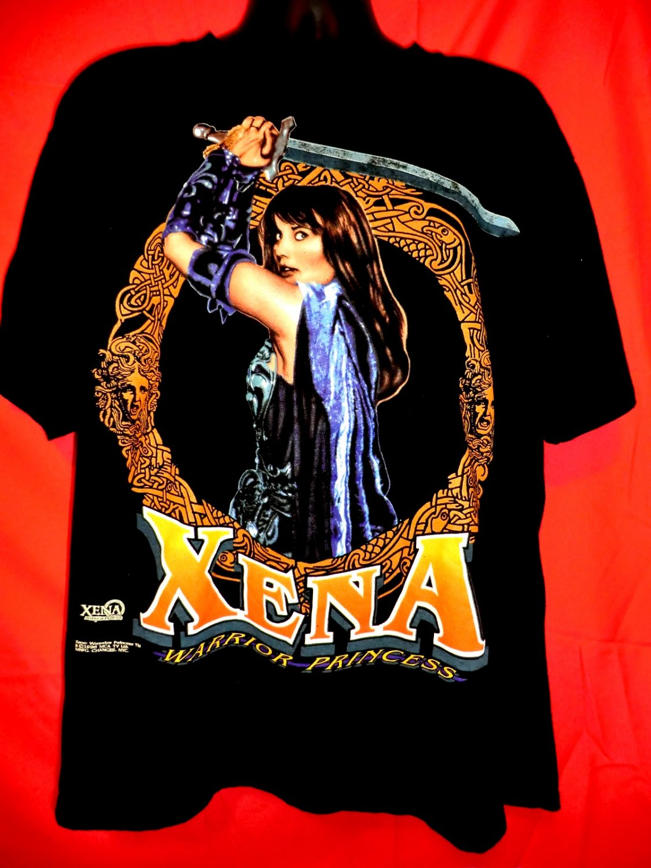 Vintage 1996 XENA WARRIOR PRINCESS T-Shirt & Script Size XXL And Script