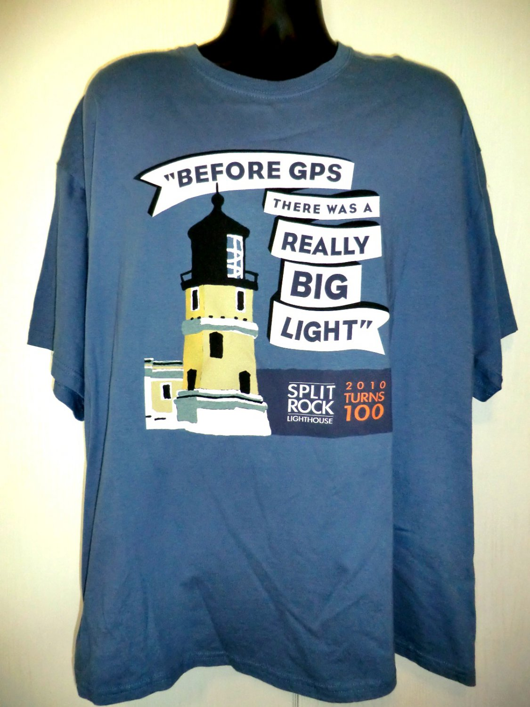 Split Rock Lighthouse Minnesota MN 100th Anniversary T-Shirt Size XXL