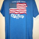 Land of the Free American Flag 2013 T-Shirt Size XL Old Navy