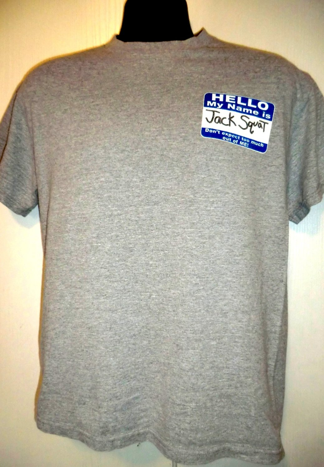 Hello My Name Is JACK SQUAT T-Shirt Size Medium