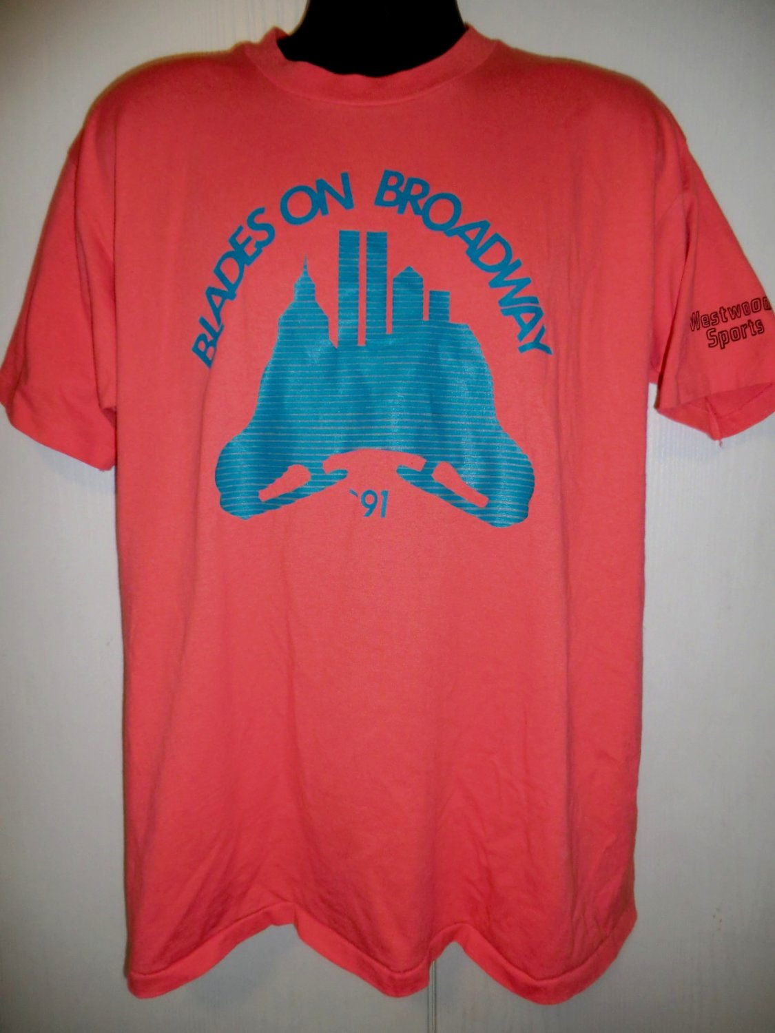 Vintage Blades on Broadway 1991 T-Shirt Size XL Westwood Sports Ice Skating