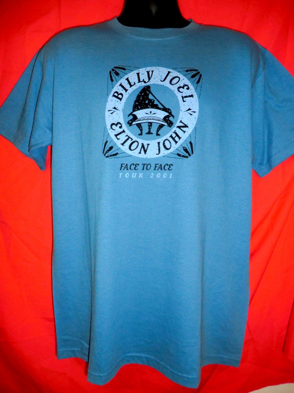 2001 Face 2 Face Elton John Billy Joel Concert Tour Large T-Shirt Face2Face