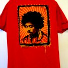 Jimi Hendrix Portrait Red T-Shirt Size Large