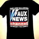 Fair and Balanced FAUX NEWS T-Shirt Size Medium 2002