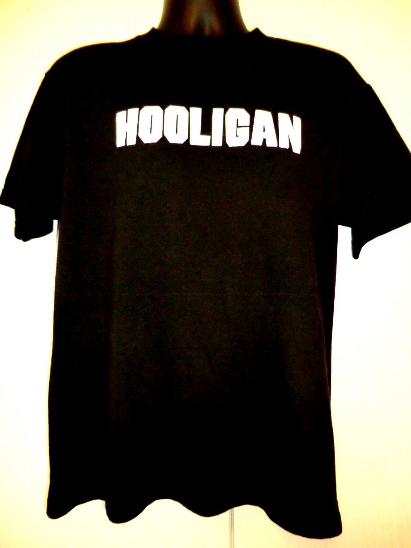 SOLD! HOOLIGAN Big B Size Medium /Large Black T-Shirt