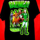 Big Bang Theory BAZINGA! T-Shirt Size XL Super Heroes