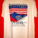 Remembering DVORAK 1993 T-Shirt Size XL Spillville, Iowa