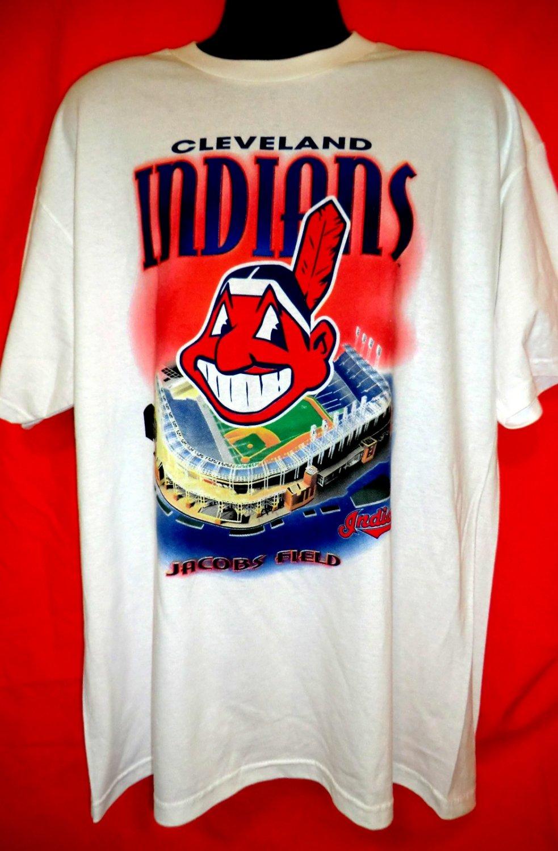 Vintage 1999 Cleveland Indians Baseball T-Shirt Size XL