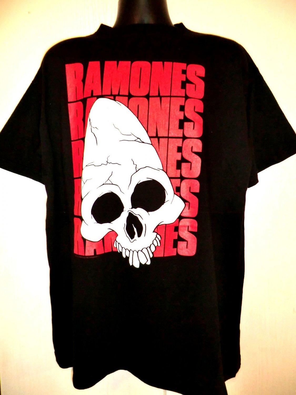 Vintage 1991 The Ramones Spain Tour T-Shirt Size XL Gabba Gabba Hey Rare!!
