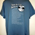 Things Not to Say During Sex T-Shirt Size Large