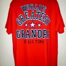World's Greatest Grandpa Of All Time T-Shirt Size XL