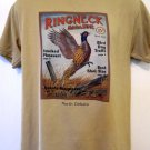 Pheasant Hunting North Dakota T-Shirt Size Medium