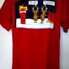 Funny Santa's NAUGHTY LIST T-Shirt Size Medium