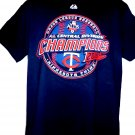 Minnesota Twins NEW T-Shirt 2010 AL Central Division Champions Size Large
