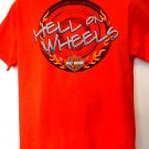 Vintage 2000 Harley Davidson Orange Medium T-Shirt  ~ Hell on Wheels ~ Minnesota Dealer