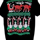 Ugly Christmas Sweater T-Shirt Size XL