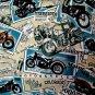 David Casey Hawaiian Camp Shirt Size XL Motorcycle Touring Postcards