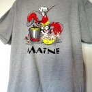 Weird Lobster MAINE T-Shirt XL