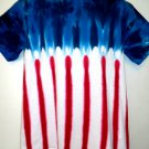 Tie Dye Red White Blue T-Shirt Size Large