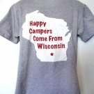 Happy Campers Come From Madison Wisconsin T-Shirt Size Medium ~ Bucky Goes To Camp