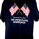 Supporting America's Finest UNITED STATES ARMED FORCES T-Shirt Size XL