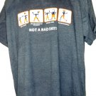 Funny Baseball T-Shirt NOT A BAD DAY Size XL Got Ticket Spilled Coffee Played Baseball
