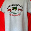 Vintage 1995 Norman County Fair Large T-Shirt Tractor