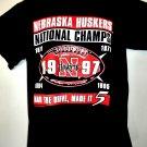 Nebraska Huskers 1997 Champs T-Shirt Size Large