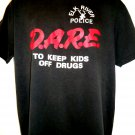 ELK RIVER POLICE D.A.R.E T-Shirt Size Large DARE TO KEEP KIDS OFF DRUGS