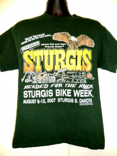 Sturgis 2007 Motorcycle Rally T-Shirt Size Medium