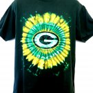 Green Bay Packers Tie Dye T-Shirt Size Large