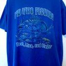 I'm Into Fishing HOOK LINE SINKER T-Shirt Size XXL