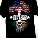 American Grown Irish Roots T-Shirt Size Large