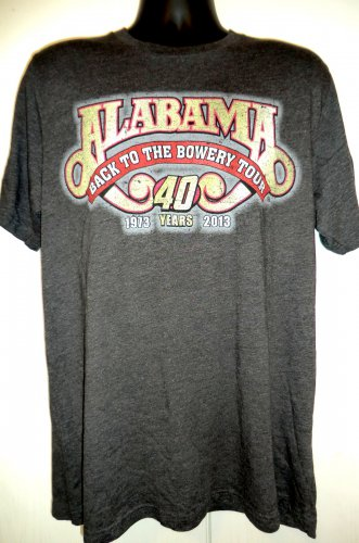 ALABAMA Back to the Bowery Tour 2013 T-Shirt Size XL