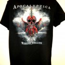 Rare Apocalyptica Concert Tour T-Shirt Size Medium ~ WORLDS COLLIDE