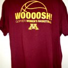WOOOOSH Gopher Women's Basketball T-Shirt Size XL Minnesota MN Golden Gophers