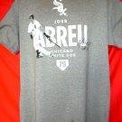 ABREU Chicago White Sox T-Shirt Size Large Signed