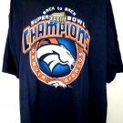 Vintage 1998 Denver Broncos XXXIII T-Shirt Size XXXL 3XL Super Bowl Champions