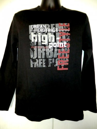 BOSSINI Long Sleeve T-Shirt URBAN DISTRICT High Point Size Medium NEW