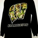 Wisconsin Badgers Long Sleeve T-Shirt Size Large Camo