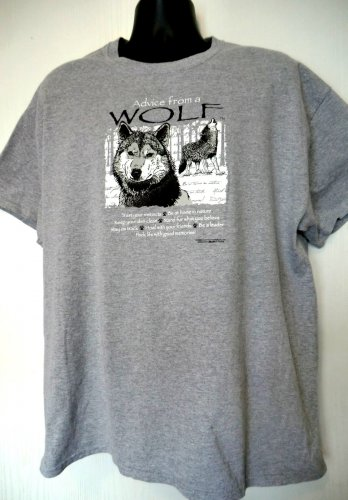 Advice from a Wolf T-Shirt Size XL