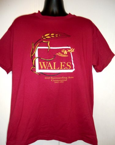 Vintage 1997 Wales Celebration T-Shirt Size XL