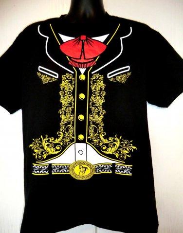 Mexican Mariachi Band Member Costume T-Shirt Size Medium